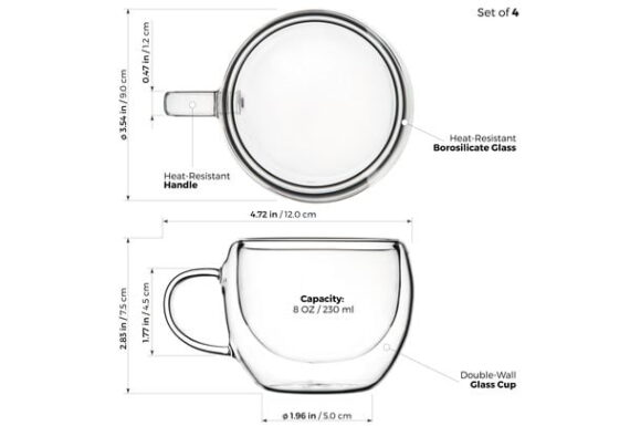 universe double wall glasses set of 4 1